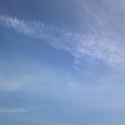 くずれた飛行機雲