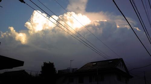 ゲリラ豪雨の雲
