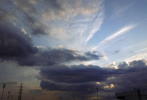 高い雲と低い雲